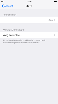 Apple iPhone 6s Plus - iOS 12 - E-mail - Account instellen (IMAP zonder SMTP-verificatie) - Stap 19