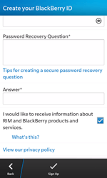 BlackBerry Z10 - Applications - Setting up the application store - Step 13