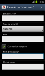 Samsung Galaxy S II - E-mail - Configuration manuelle - Étape 13