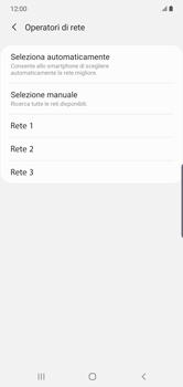 Samsung Galaxy Note 10 Plus 5G - Rete - Selezione manuale della rete - Fase 10