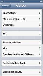 Apple iPhone 5 - Internet et roaming de données - Désactivation du roaming de données - Étape 4