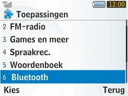 Samsung S3350 Chat 335 - bluetooth - aanzetten - stap 4