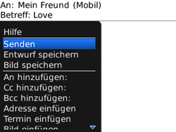 BlackBerry Curve - MMS - Erstellen und senden - 14 / 16