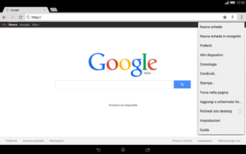 Sony Xperia Tablet Z2 LTE - Internet e roaming dati - Uso di Internet - Fase 10