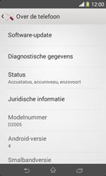 Sony D2005 Xperia E1 - software - update installeren zonder pc - stap 5