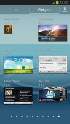 Samsung Galaxy S III LTE - Getting started - Installing widgets and applications on your start screen - Step 5