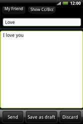 HTC A510e Wildfire S - E-mail - Sending emails - Step 8