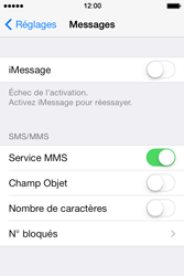 Apple iPhone 4S iOS 7 - MMS - Configuration manuelle - Étape 8