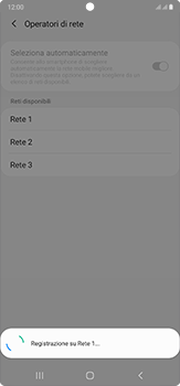 Samsung Galaxy Note 20 Ultra 5G - Rete - Selezione manuale della rete - Fase 13