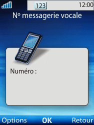 Sony W100i Spiro - Messagerie vocale - Configuration manuelle - Étape 7