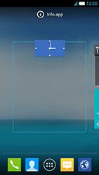 Alcatel One Touch Idol S - Operazioni iniziali - Installazione di widget e applicazioni nella schermata iniziale - Fase 6