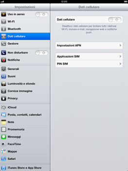 Apple iPad mini - Internet e roaming dati - Configurazione manuale - Fase 4