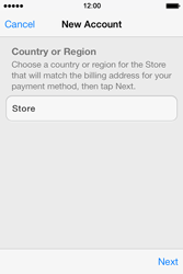 Apple iPhone 4S iOS 7 - Applications - Setting up the application store - Step 9