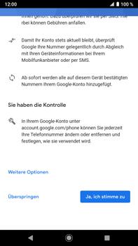 Sony Xperia XZ2 Premium - Android Pie - Apps - Konto anlegen und einrichten - Schritt 15