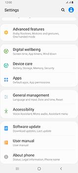 Samsung Galaxy A80 - Software - Installing software updates - Step 4