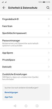 Huawei P20 - Android Pie - Startanleitung - So aktivieren Sie eine SIM-PIN - Schritt 4
