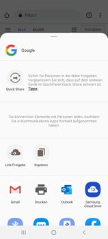 Samsung Galaxy S20 Plus 5G - Internet und Datenroaming - Verwenden des Internets - Schritt 23