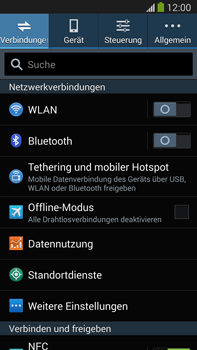 Samsung Galaxy Note 3 LTE - WLAN - Manuelle Konfiguration - 4 / 9