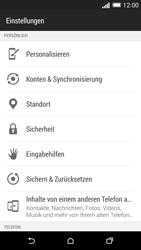 HTC One M8 - Gerät - Zurücksetzen auf die Werkseinstellungen - Schritt 4
