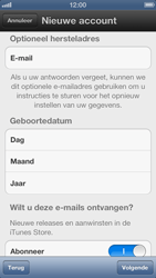 Apple iPhone 5 - Applicaties - Account instellen - Stap 10