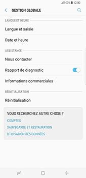 Samsung Galaxy S8+ - Aller plus loin - Restaurer les paramètres d'usines - Étape 5