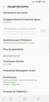 Samsung Galaxy S8 - Android Oreo - Messagerie vocale - Configuration manuelle - Étape 6