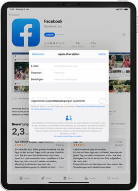 Apple iPad Mini 4 - ipados 13 - Apps - Einrichten des App Stores - Schritt 9