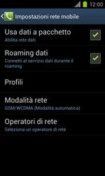 Samsung Galaxy S II - Internet e roaming dati - Disattivazione del roaming dati - Fase 6
