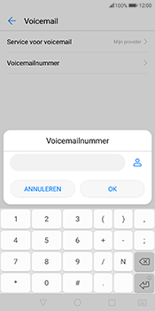 Huawei Mate 10 Pro - Voicemail - Handmatig instellen - Stap 8