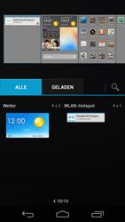 Huawei Ascend P6 - Startanleitung - Installieren von Widgets und Apps auf der Startseite - Schritt 5