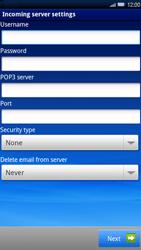 Sony Xperia X10 - E-mail - Manual configuration - Step 7