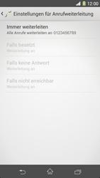 Sony Xperia Z1 - Anrufe - Rufumleitungen setzen und löschen - 1 / 1