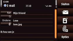 Nokia N97 Mini - e-mail - hoe te versturen - stap 14
