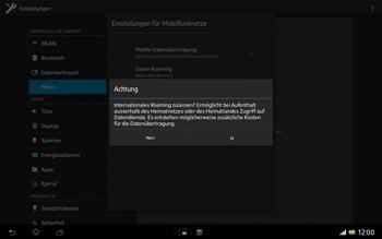 Sony Xperia Tablet Z LTE - Ausland - Im Ausland surfen – Datenroaming - Schritt 10