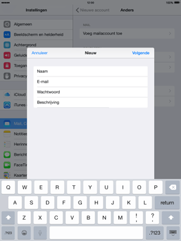 Apple iPad Air iOS 8 - E-mail - e-mail instellen: IMAP (aanbevolen) - Stap 9