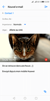 Huawei Mate 10 Pro - E-mails - Envoyer un e-mail - Étape 15