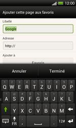 HTC One SV - Internet et roaming de données - Navigation sur Internet - Étape 8