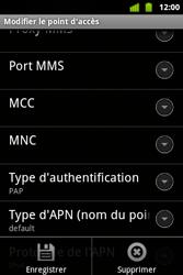 Alcatel OT-983 - Internet et roaming de données - configuration manuelle - Étape 15