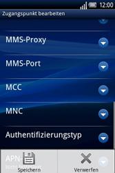 Sony Ericsson Xperia X8 - MMS - Manuelle Konfiguration - 14 / 17