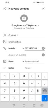 Huawei P Smart 2021 - Contact, Appels, SMS/MMS - Ajouter un contact - Étape 7