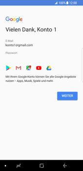 Samsung Galaxy S8 - Apps - Konto anlegen und einrichten - 16 / 19