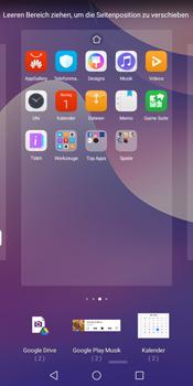 Huawei Y7 (2018) - Startanleitung - Installieren von Widgets und Apps auf der Startseite - Schritt 7