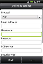 HTC A6262 Hero - Email - Manual configuration POP3 with SMTP verification - Step 6