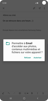 Samsung Galaxy S10 - E-mails - Envoyer un e-mail - Étape 14