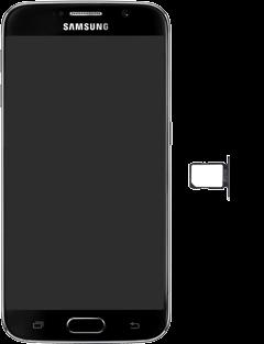 Samsung G920F Galaxy S6 - SIM-Karte - Einlegen - Schritt 4