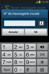 Samsung S6810P Galaxy Fame - Messagerie vocale - configuration manuelle - Étape 9