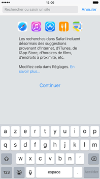 Apple iPhone 6 Plus iOS 9 - Internet et roaming de données - Navigation sur Internet - Étape 5