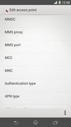 Sony Xperia Z1 - MMS - Manual configuration - Step 12