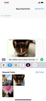 Apple iPhone XS Max - MMS - Erstellen und senden - 16 / 18