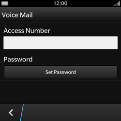 BlackBerry Q10 - Voicemail - Manual configuration - Step 7